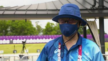 Volunteer bei den Olympischen Spielen in Tokio.