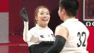 Rollstuhlrugby-Spielerin aus Japan