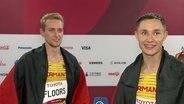 Johannes Floors (li.) und Felix Streng