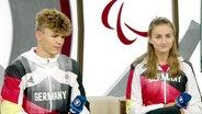 Taliso Engel und Elena Krawzow zu Gast im Sportschau-Studio.