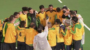 Die brasilianische Mannschaft freut sich über den Sieg.