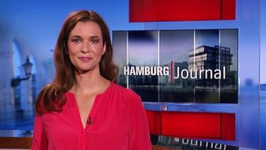 Julia-Niharika Sen, Moderatorin vom Hamburg Journal, im Studio.