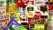 Eine Bildmontage verschiedener Lebensmittelprodukte