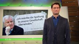 Horst Seehofer mit einem Zitat.