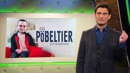 """Eine Fotocollage zeigt Jens Spahn mit dem Titel """"Das Pöbeltier""""."""