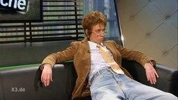Ute Rehbein zum Interview auf der Couch.