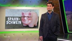 Eine Karikatur zeigt ein Sparschwein mit dem Gesicht von Jens Spahn.