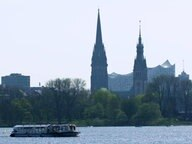 Die Alster in Hamburg.