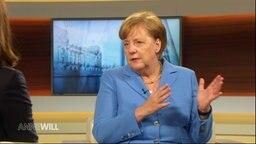 Bundeskanzlerin Angela Merkel im Gespräch mit Anne Will
