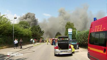 Brand in Bad Segeberger Gewerbegebiet.