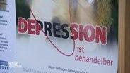 Ein Plakat, das über die Behanderlbarkeit von Depressionen aufklären möchte.