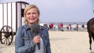 Die Moderatorin in Usedom