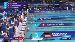Vorlauf der 400x100m-Freistil-Staffel der Frauen