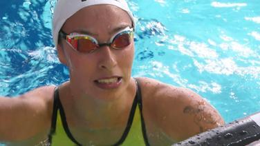 Die Schwimmerin Fantine Lesaffre.