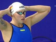 Sarah Köhler vor dem Start.