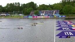 Der Finallauf im Doppelzweier der Männer bei den European Championchips