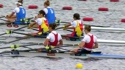 Ruderfinale im Leichten Doppelzweier der Frauen bei den European Championchips