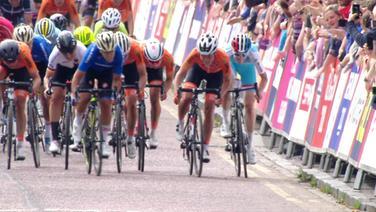 Sprint beim Straßenrennen der Frauen bei den European Championchips