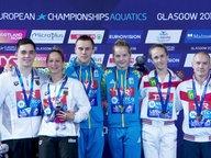 Die Medaillengewinner im Gruppenbild.