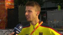 Weitspringer Heinle im Interview.