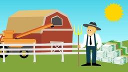Bauernhof Zeichnung