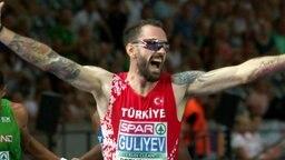 200-m-Sprinter Ramil Guliyev aus der Türkei.