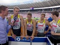 4 x 400 m: Deutsche Staffel im Interview.