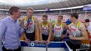 4 x 400 m: Deutsche Staffel im Interview.