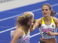 Frauen-Staffel sprinten.