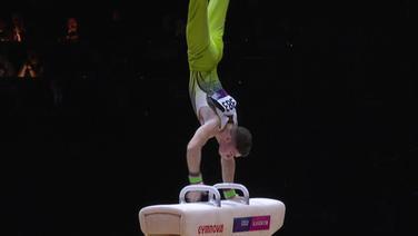 Der Goldmedaillengewinner am Pauschenpferd bei den European Championships Rhys McClenaghan