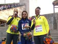 Nadine Müller, Sandra Perkovic und Shanice Craft