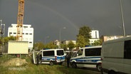 2 Polizeiwagen in Rostock