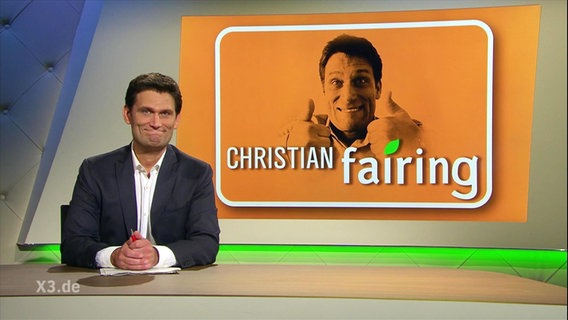 "Christian Ehring (Screen: ""Christian fairing"")."