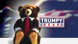 """Kuschelbär """"Trumpy Bear""""."""