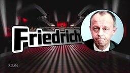 Montage: Friedrich Merz als Kandidat bei The Voice of Germany.