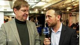 Ralf Stegner im Gespräch mit Jakob Leube.