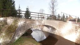 Eine Brücke in Kühnhaide im Erzgebirge.