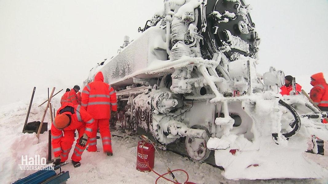 Brockenbahn Eingeschneit