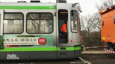 Stadtbahn-Unfall in Hannover.