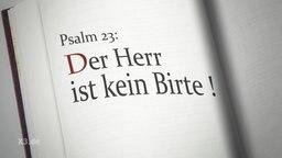 Psalm 23: Der Herr ist kein Birte!
