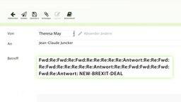 Eine Screenshot eines Email-Feldes.