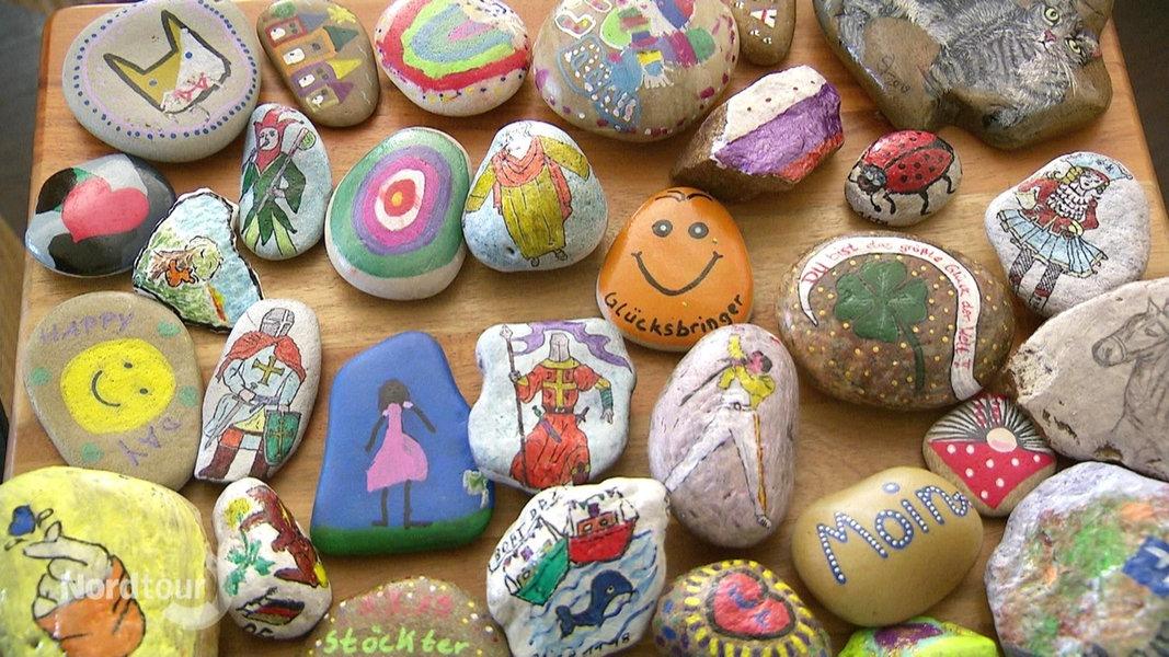 Bemalte Steine Auslegen