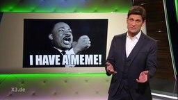 Christian Ehring vor Martin Luther-King Bild.