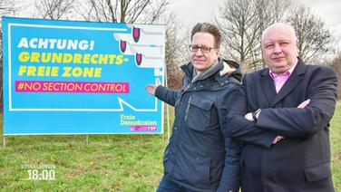 FDP Plakat zur Section Control.
