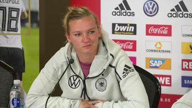 Die deutsche Fußball-Nationalspielerin Alexandra Popp