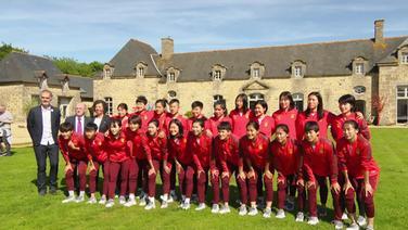 Chinesische Frauen-Fußballmannschaft.
