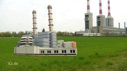 Irsching in Bayern gibt es zwei moderne Gaskraftwerke.