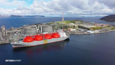 Der LNG Gas-Termina in Hammerfest, Norwegen.