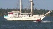 """Ostsee: """"Greif"""" wieder frei, Sportboot gesunken"""