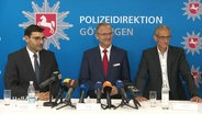 Pressekonferenz der Polizeidirektion Göttingen.